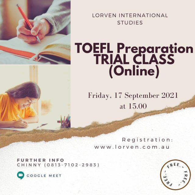 TOEFL TRIAL CLASS (ONLINE)